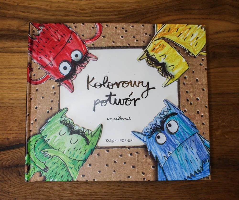 Kolorowy potwór - książka która uczy wyrażać emocje