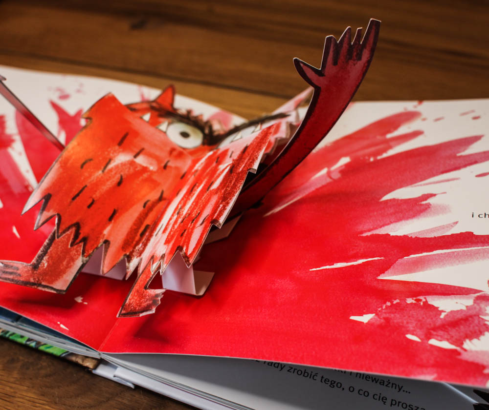 książka o emocjach - kolorowy potwór